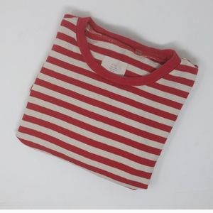 Fear of God Red White Striped Crew Neck Tee Small